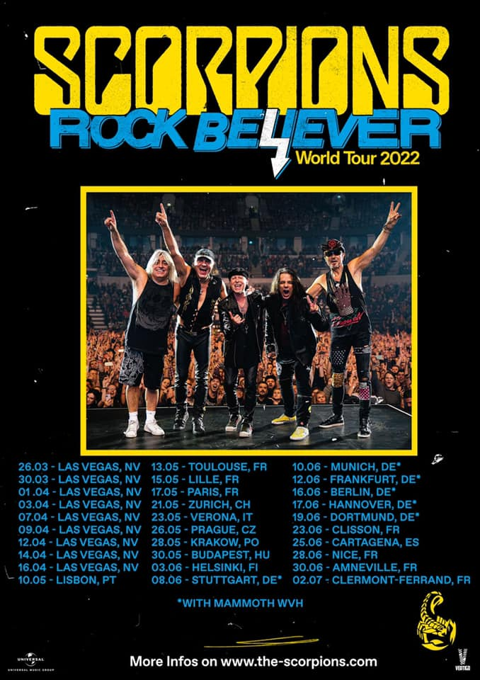Scorpions gira Rock Believer