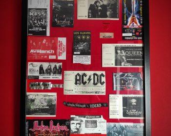 Colección entradas de conciertos